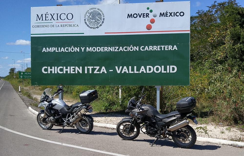Motorcycle Trip Chichen Itza Signage