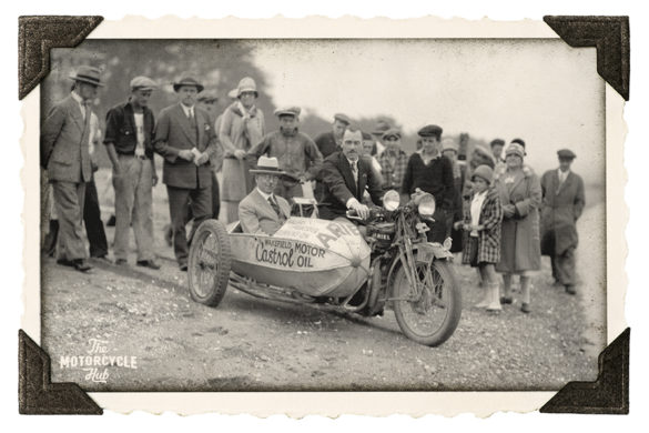 Graham Oates on a motorcycle 1928