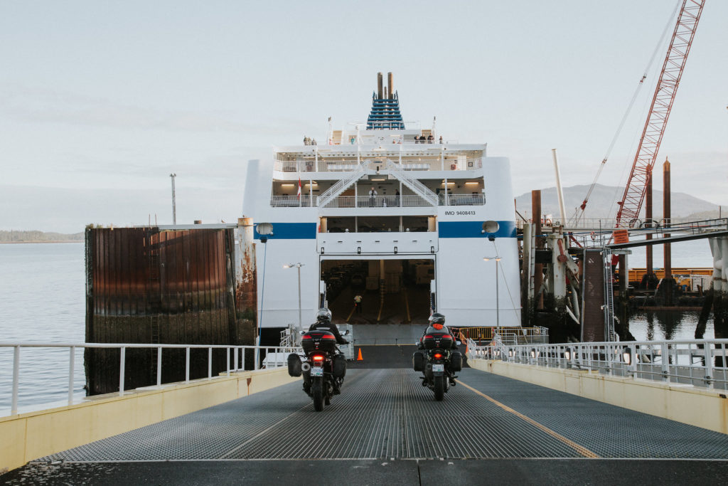 Route 16 Motorcycle Tour - Prince Rupert Ferry