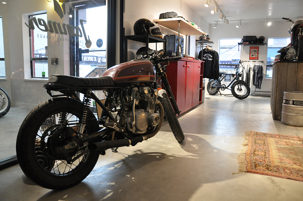 Shop Tour Jammer Cafe And Urban Garage The Motorcycle Hub